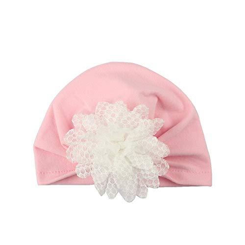 mütze Boho Neugeborene Turban Baby Mädchen Junge Hat Kleinkind Elastische Stretch Blume Weichen Hute 100% Super Weich Baumwolle Knoten Stirnband (F,Einheitsgröße) ()