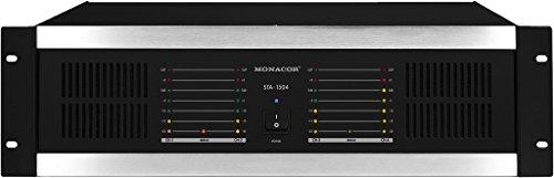 MONACOR STA-1504 Mehrkanal-PA-Verstärker mit integriertem Limiter schwarz