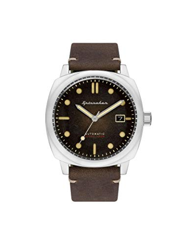 Spinnaker Hull Automatic Montre Homme Dateur Cuir Marron-SP-5059-02