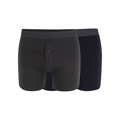 j-by-jasper-conran-designer-pack-of-two-navy-and-dark-grey-soft-stretch-boxers-m