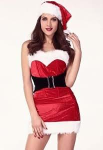 Sexy Cutie de GUI de Noël Costume Déguisements d'Halloween nuit de poule usure du club de fête TAILLE 38 40