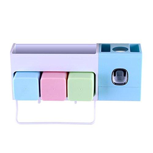 Xuan - worth having Brosse à dents Stérilisateur étagère aspiration ventouse brosse tasse de lavage automatique Squeeze dentifrice murale boîte dentaire ( Couleur : C )
