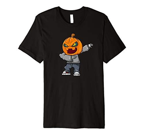 Lustige Skeleton Halloween-Kürbis-T-Shirts Kindermänner
