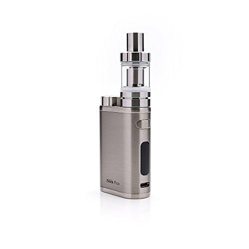 E Zigarette, Eleaf iStick Pico 75W TC Full Kit, Vape Kit with TC Mod Box, Riesiger Dampf Elektronische Zigarette Kit, Keine Flüssigkeit, Kein Nikotin (Brushed Silber) (Zigarette Elektronische E-flüssigkeit)