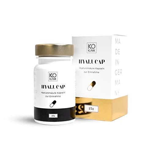 KÖ KLINIK HyaluCap Hyaluronsäure Kapseln (1) | 30 Kapseln | 350 mg Natrium Hyaluronat + 200 mg Kollagen pro Kapsel | vegan | Made in Germany