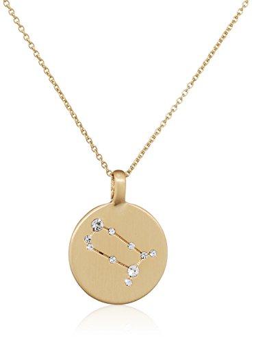 Pilgrim Damen-Kette mit Anhänger teilvergoldet Kristall weiß Rundschliff 27 cm - 521612051