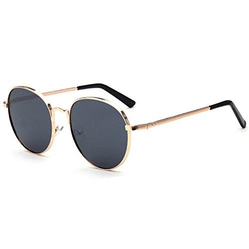 Z-P Unisex Vintage Style Wayfarer Metal Round Frame Reflective UV400 Color Film Sunglasses 59MM
