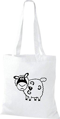 Shirtstown Stoffbeutel Tiere Schaf Schäfchen Weiß