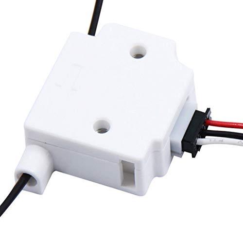 INGHU Erkennungsmodul Mit 1 Mt Kabel 1,75mm Exzentrizitätsschalter Filament Break Runout 3D Drucker Teile Spritzguss Monitor Zubehör Sensor Material Bü(Weiß) -