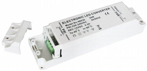 30W LED Trafo Treiber Vorschaltgerät 230V auf 12V DC stabilisiert speziell für LED