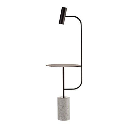 JCRNJSB® Stehlampe, postmoderne Wohnzimmer minimalistischen Sofa Couchtisch Lampe kreative Nordic Modell Hotel Villa Schlafzimmer vertikale Stehlampe Höhe 150cm Dimmbar, kann beleuchtet werden ( Farbe : Schwarz )