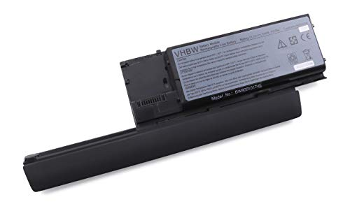 vhbw Batterie Li-ION 6600mAh, 11.1V, Couleur Argent, pour Notebook Dell Latitude D620, remplace Les modèles 451-10297 / -10298 / -10299, JD648 etc.