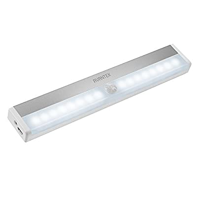 AVANTEK USB Rechargeable LED Night Light with PIR Motion Sensor, Stick-on Magnetic Strip for Closet Cabinet Wardrobe Stair Hallway Washroom - inexpensive UK light shop.