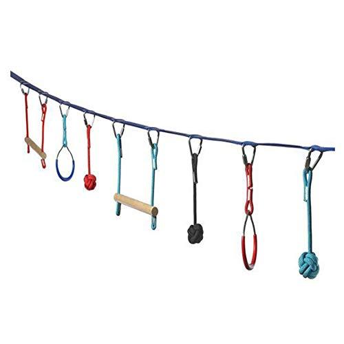 LXQ Outdoor-Kletter-Kombinationsset für Kinder Fun Toys Outdoor-Hindernisse Expansionstraining Gleichgewichtstraining-Set Heimspielplatz-Schlitten Kletternetze, Schwedische Leitern -