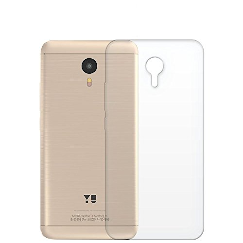 K/B Flexible Ultra Slim Premium Silicone TPU Transparent Soft Back Cover Case for Micromax YU Yunicorn YU5530 (White)  available at amazon for Rs.120