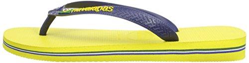 Havaianas Zehentrenner Damen/ Herren Brasil, Gelb (Brasil Logo Citrus Yellow), 47/48 EU ( 45/46 Brazilian) - 5
