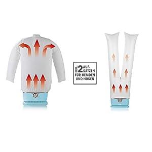 CLEANmaxx automatischer Hemdenbügler inkl. Hosenaufsatz | Bügler für Hemden & Blusen, Bügelautomat | Bügelpuppe für Hemden und Blusen | Bügelhilfe für Hemden und Blusenbügler, Hellbalu