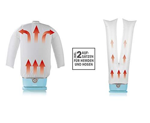CLEANmaxx automatischer Hemdenbügler inkl. Hosenaufsatz | Bügler für Hemden & Blusen, Bügelautomat | Bügelpuppe für Hemden und Blusen [Bügelhilfe für Hemden und Blusenbügler, Hellblau]