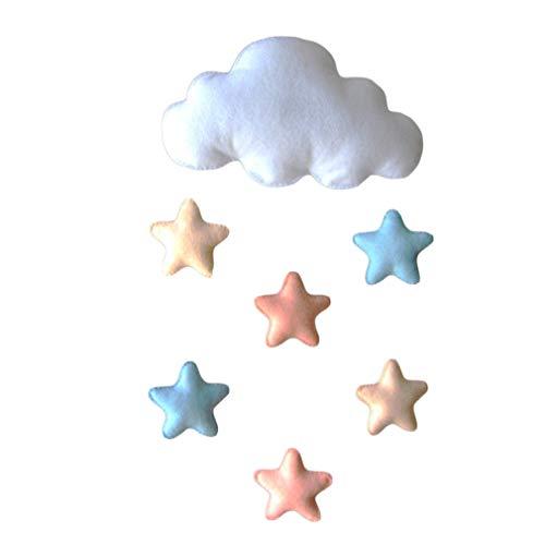 AidShunN Wolke Sterne Herzen Hängende Dekorationen Decke Mobil für Kinderzimmer Baby Wand Tür Dekor Zelt ()
