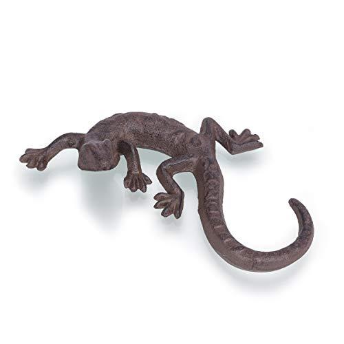 Antikas   Salamander Dekoration   Gecko Deko   Brief-Beschwerer aus Gusseisen -