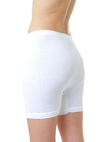 LisaModa Damen Pagenschlüpfer 6er Pack Baumwolle Feinripp Slips Weiß