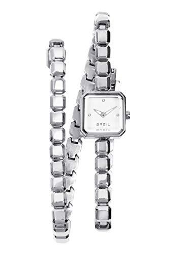 Orologio BREIL donna PURE WATCHES quadrante bianco e bracciale in acciaio,...