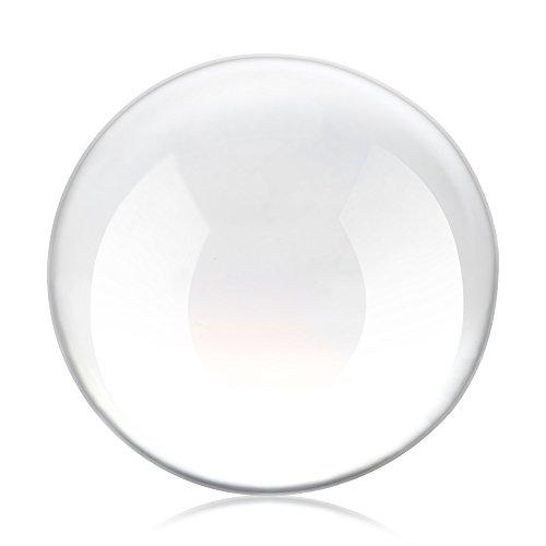 Glass Ball, 60mm Crystal Ball Clear Glass Globe Ball Fengshui Ornamenti per i regali Decorazione della casa di fotografia