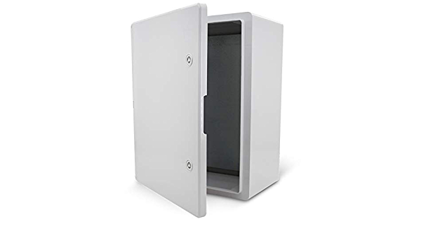 KOOP Armoire /électrique Bo/îtier industriel IP65 Plaque de montage galvanis/ée Plaque de verrouillage Porte avec joint mural Bo/îtier vide en plastique ABS 400 x 600 x 200 40 x 60 x 20