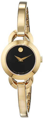 Movado Damen Datum klassisch Quarz Uhr mit Edelstahl Armband 606888