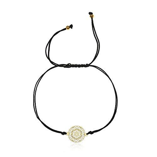 Tara Armband Mandala Edelstahl Gelbgold