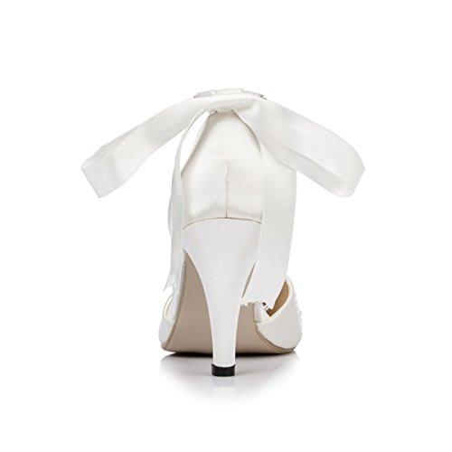 Miyoopark , Sandales Compensées femme Blanc - blanc