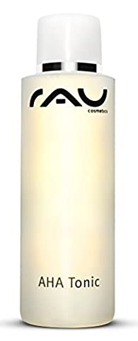 RAU AHA Tonic 200 ml - Best Cleanser - Rebalancing & Clearing Anti-Ageing Face Toner - with Mild Fruit Acids, White Tea & Sorbitol - Cleansing Lotion supports natural exfoliation & absorption of active ingredients - Refreshing Make-up Remover - Anti-Wrinkle and Anti-Spot Facial Cleanser - Also suitable for sensitive skin