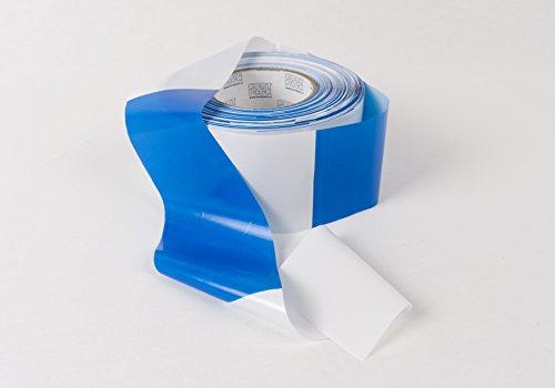 Preisvergleich Produktbild Absperrband blau Weiss 75 mm breidt x 250 meter / 1 Rolle