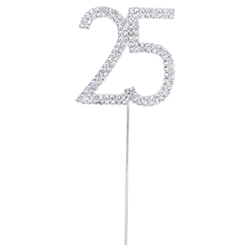 Gleader Adorno Topper de Cristal Diamante para Pastel Fiesta de Cumple