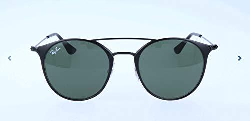 RAYBAN JUNIOR Unisex-Erwachsene Sonnenbrille RB3546 Top Matte Black/Green, 49