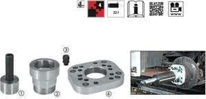 Vigor extracteur pour moyeu sans radbolzenkranz v3749, 4 pièces