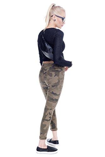 fringoo Unisex Bauchtasche, für Geld, Tasche, für Festivals, Holografisches Design, Leder, Reisetasche, mit Reißverschluss, Lauf-/ Sporttasche Black - Dots