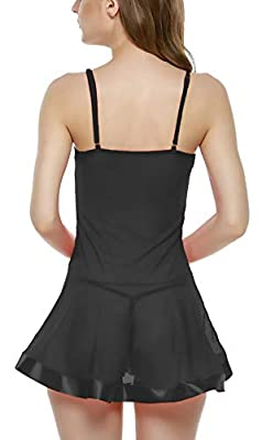 Xs and Os Women Babydoll Nightwear Lingerie with Panty/g-String