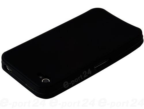 Flexible Silikon-Schutzhülle Bumper für Apple iPhone 4/4G/4GS hohe Qualität Stilvolle Made von E-port24® Schwarz