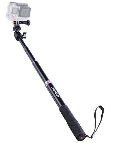 Smatree SmaPole Q1 Ausziehbare Selfie Stick / Einbeinstativ für DJI OSMO Action/ GoPro Hero 5/4/3+/3/2/1/Session / für Kompaktkameras (Dolly Cam)