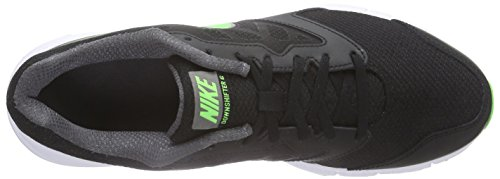Nike Downshifter 6, Chaussures de course homme Negro / Verde / Gris / Blanco (Blk / Grn Strk-Mtlc Drk Gry-Whit)