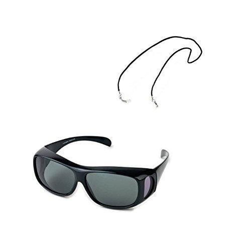 Behr Polbrille Fitover Überzieh-Brille + Brillenband Umhängeband