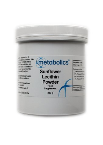 sunflower lecithin powder (200g) GMO Free, Vegetarian- Made In The UK To GMP Quality Standards Test