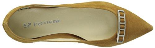 STUDIO PALOMA Damen 19608 Ballerinas Braun - Marron (Ante Cognac)