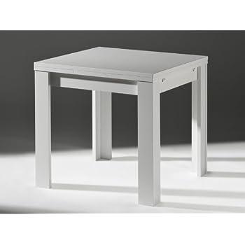 Ausziehtisch weiß  Küchentisch Ausziehtisch Weiß matt 80x60cm: Amazon.de: Küche ...