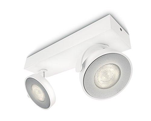 Philips myLiving Spot Clockwork Warmglow Dimm-Effekt 2-flammig, weiß