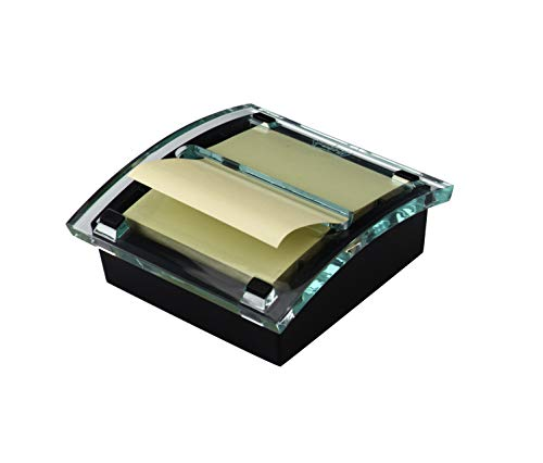 lspender, schwarzer Boden, durchsichtige Oberseite, passend für Post-it Pop-Up-Notizen, klassisches Design, passt 7,6 cm x 7,6 cm. Notes, 1 Spender/Packung, (DS330-BK) ()