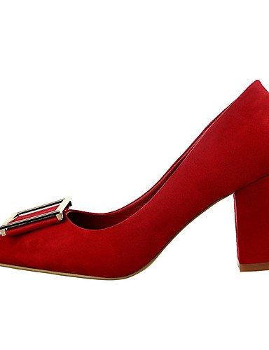 WSS 2016 Chaussures Femme-Extérieure / Bureau & Travail / Soirée & Evénement-Noir / Marron / Rose / Rouge / Gris / Fuchsia-Gros Talon-Talons / gray-us5 / eu35 / uk3 / cn34