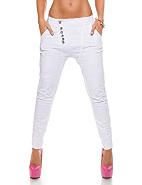 koucla Skinny Jeans boyfriendhose chino–Pantalones Harén Baggy Tallas 34–42(K600–274d)