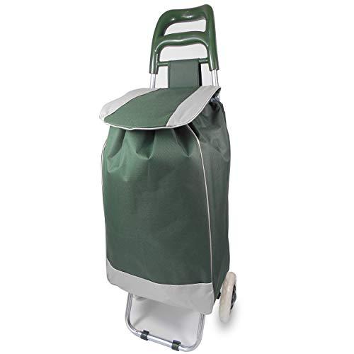 Einkauftrolly Einkaufstrolley Zeitungswagen Prospektwagen Einkauswagen auf Rädern Einkaufstasche Rollen  Grün